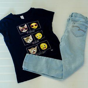 Justice jeans and top